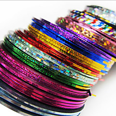 24PCS mixs Color striping Tape Stripe linie Nail Tape Nail Art de decorare autocolant