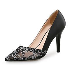 olcso -Club cipő-Stiletto-Női cipő-Magassarkúak-Esküvői Ruha Party és Estélyi-Szintetikus Tüll Szövet-Fekete Kék Fehér Görögdinnye