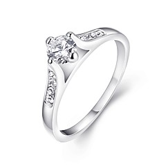 cheap Rings-Women's Crystal Band Ring - Zircon, Alloy Ladies, Classic, Fashion Jewelry Silver For Wedding Party Halloween Birthday Engagement Gift 6 / 7 / 8