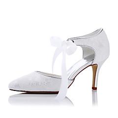 Damen-High Heels-Hochzeit Kleid Party & Festivität-Kunststoff Satin-StöckelabsatzWeiß