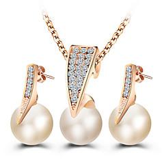 Κοσμήματα 1 Κολιέ 1 Ζευγάρι σκουλαρίκια Γάμου Πάρτι Ειδική Περίσταση Καθημερινά Causal Κράμα 1set Χρυσαφί Δώρα Γάμου