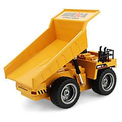 baratos Carros Controle Remoto-Carro com CR HUINA 1540 Canal 6 2.4G Caminhão / Veiculo de Construção / Caminhão basculante 1:12 KM / H Controlo Remoto / Recarregável / Elétrico