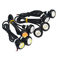 1pair bil førte tåke omvendt lys ledet eagle eye kjørelys hale backup lys vanntett tåke parkeringslys dc 12v