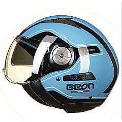 털이 절반 얼굴 거리 오토바이 헬멧 복고풍 투시 고글 헬멧 푸른 색