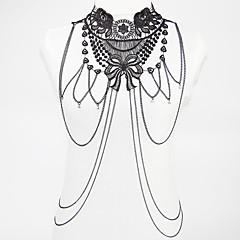 tanie Piercing-Łańcuch nadwozia / Belly Chain - Koronka Kwiat Artystyczny, Modny Czarny Biżuteria Na Prezenty bożonarodzeniowe / Impreza / Specjalne okazje