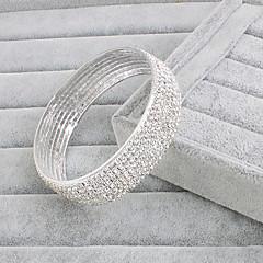 Браслеты Браслет цельное кольцо Сплав Стразы бесконечность Мода Свадьба Для вечеринок Бижутерия Подарок Белый,1шт