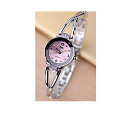 Pentru femei Ceas Brățară Simulat Diamant Ceas Quartz / Placat Cu Aur Roz Oțel inoxidabil Bandă Argint