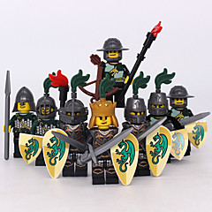 אבני בניין דמויות מאבני בניין צעצועים לוחם טירה סוס Military נערים בנים 8 חתיכות