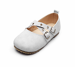 cheap Wedding Shoes-Boys' Shoes Cowhide Spring Fall Comfort Flats Magic Tape for Wedding Casual Office & Career Outdoor Party & Evening Gray Coffee Pink