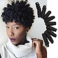 povoljno Ekstenzije za kosu-Kosa koja se plete Bouncy Curl / Saniya Curl Twist pletenice / Pre-loop kukičanje Pletenice / Curlkalon kose 100% kanekalon kose / Kanekalon 20 korijena / pakiranja Sušilo za pletenice Ombre 10 inch