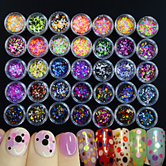 35bottles/set Manucure Dé oration strass Perles Maquillage cosmétique Nail Art Design