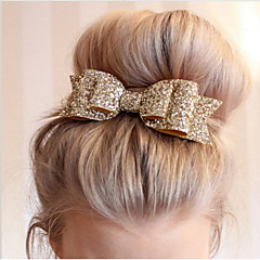 1 Pcs Women Hair Clips Lady Girls Sequin Big Bowknot Barrette Hairpin Hair Bow Accessories