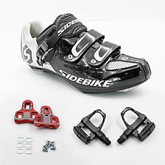 BOODUN/SIDEBIKE® Tênis Tênis para Ciclismo Sapatos para Ciclismo Sapatilhas de Ciclismo com Travas & Pedal UnisexoAnti-Shake Almofadado