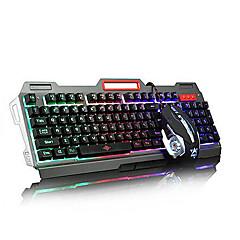 Usb multi Farbe backlit Spiel Micro Denifition 1200-1600-2400-3200 Maus Spiel ergonomische Tastatur Maus Kit