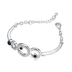 Žene Gipke i čvrste narukvice Jewelry Prijateljstvo Moda Kristal Legura Geometric Shape Jewelry Za Party Rođendan
