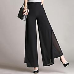 Women's Plus Size Loose Bootcut Wide Leg Sweatpants Chinos Pants - Solid, Chiffon High Rise