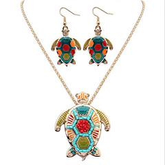 baratos Conjuntos de Bijuteria-Mulheres Logo Conjunto de jóias - Resina Animal Original, Pingente, Boêmio Incluir Dourado / Prata Para Parabéns O negócio Casual