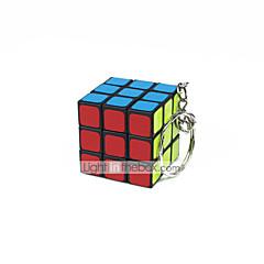 Rubiks kube Glatt Hastighetskube Glatt klistremerke justerbar våren Magiske kuber Nøkkelring Kvadrat Gave