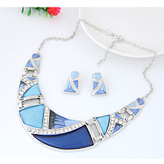 cheap Jewelry Sets-Women's Geometrical Jewelry Set - Ladies, Fashion, Euramerican Include Rainbow / Green / Blue For Party Daily