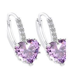 Damskie Kolczyki koła Cyrkonia Serce biżuteria kostiumowa Cyrkonia Geometric Shape Biżuteria Na Impreza Codzienny Casual