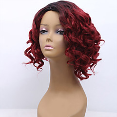 cheap Wigs & Hair Pieces-hot sale 1b red color wave hair synthetic cosplay women wigs