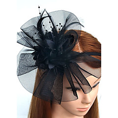 Φτερό Δίχτυ Κεφαλόδεσμοι Διακοσμητικά Κεφαλής Λουλούδια Βέλα κλουβιού πουλιών Coroane Headpiece