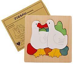 Holzpuzzle Spielzeuge Ente Tiere Kinder Stücke