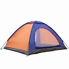 2 personer Telt Dobbelt camping Tent Ett Rom Brette Telt Vanntett Bærbar Vindtett Ultraviolet Motstandsdyktig Regn-sikker Anti-Insekt