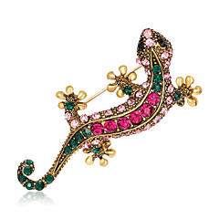 cheap Pins and Brooches-Women's Brooches Animal Design Euramerican Fashion Rhinestone Alloy Animal Assorted Color Jewelry For Wedding Party Special Occasion Daily