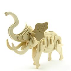 baratos -Quebra-Cabeças 3D Quebra-Cabeça Brinquedos de Montar Elefante Animais Faça Você Mesmo De madeira Clássico Crianças Unisexo Brinquedos Dom