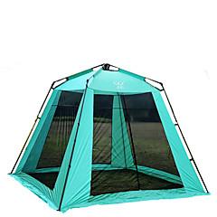 5-8 Persoons Tent Tarpen Camping zonnescherm Huisvormige tent met gaas Enkel Kampeer tent Eèn Kamer Automatische Tent Houd Warm