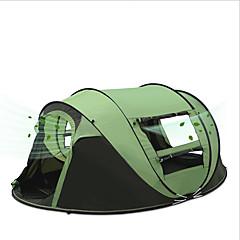 3-4 personer Telt Enkelt camping Tent Ett Rom Pop opp telt Vanntett Bærbar Vindtett Regn-sikker Anti-Insekt Pusteevne Komprimering