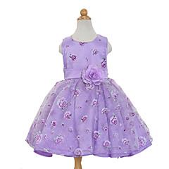 tanie Odzież dla dziewczynek-Dzieci Dla dziewczynek Słodkie Impreza Kwiaty Bez rękawów Sukienka