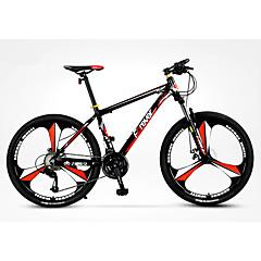 Mountain bike Kerékpározás 27 Speed 26 hüvelyk/700CC MICROSHIFT TS38 Olajos tárcsafék Villa Alumínium ötvözet váz Merev váz Csúszásgátló