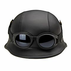반 얼굴 오토바이 헬멧 레트로 유연한 복근 거리 오토바이 헬멧 블랙 컬러