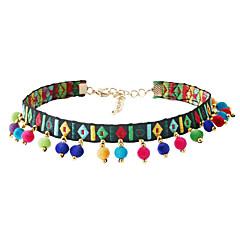 billige Halsbånd-Dame Kvast Kort halskæde - Tassel, Bohemisk, Euro-Amerikansk Hvid, Mørkegrøn Halskæder Smykker 1pc Til Fest