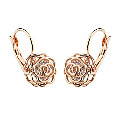 cheap Earrings-Women's Gold Plated Drop Earrings - Fashion Flower For Party Birthday Daily