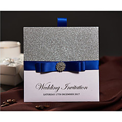 Wrap & Pocket Wedding Invitations 50-Invitation Cards Modern Style Pearl Paper