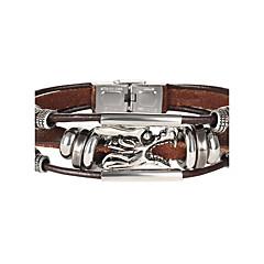 Damen Herrn Ketten- & Glieder-Armbänder Modisch Leder Flügel Schmuck Für Hochzeit Party Besondere Anlässe Weihnachts Geschenke 1 Stück