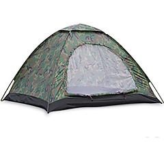 """2 אנשים אוהל יחיד קמפינג אוהל שני חדרים אוהל מתקפל עמיד ללחות עמיד למים מוגן מגשם נשימה ל צעידה קמפינג לטייל חוץ פחות מ-1000 מ""""מ סיבי"""