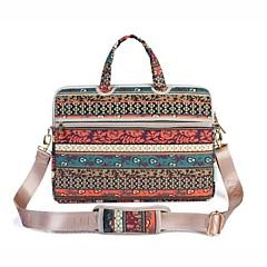billiga Laptop Bags-13,3 14,1 15,6 tums retro bohemisk stil bärbar dator axelväska med rem handväska för yta / dell / hp / samsung / sony etc
