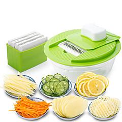 Недорогие Кухонная утварь и гаджеты-мандолина овощерезка dicer нож для резки фруктов нож с 4 сменными лезвиями из нержавеющей стали