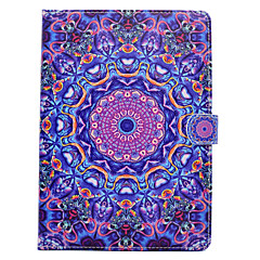 For iPhone iPad (2017) iPad Pro 9.7'' PU Leather Material Blue Purple Pattern Painted Flat Protective Cover iPad Air 2 Air iPad 2 / 3 / 4