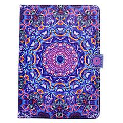 Für iphone ipad (2017) ipad pro 9.7 '' PU-lederner materieller blauer purpurroter Muster gemaltes flaches schützende Abdeckung ipad Luft 2