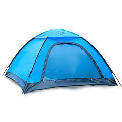billige Telt og ly-JUNGLEBOA® 2 personer Turtelt Enkelt Stang Kuppel camping Tent Utendørs Bærbar, Vanntett, Fukt-sikker til Vandring / Camping 1000-1500 mm Glassfiber, Oxford