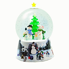 Bolas Caixa de música Árvores de Natal Light Up Toys Brinquedos Esfera Pato Resina Peças Unisexo Natal Aniversário Dom