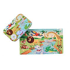Holzpuzzle Spielzeugautos Spielzeuge Quadratisch Tiere Kinder 1 Stücke