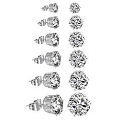baratos Conjuntos de Bijuteria-Mulheres Conjunto de jóias - Luxo, Clássico, Acrilíco Incluir Branco / Preto Para O negócio / Diário / Casual / Brincos