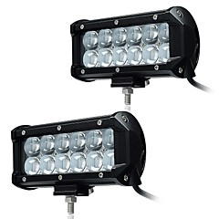 cheap Vehicle Working Light-KAWELL 2Pcs 6.5 36W LED Work Light Bar Spot Beam 30 degree 4D Driving Light Waterproof 9-32V for Off-road Vehicle Pickup Car SUV Truck ATVs 4x4 4WD B