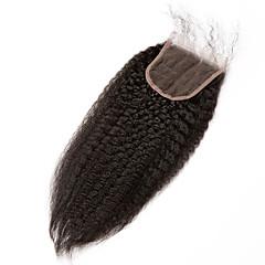 billiga Peruker och hårförlängning-Kinky Rakt Klassisk Rak 4x4 Stängning Schweizisk spetsperuk Äkta hår Fria delen Mittparti 3 Del Hög kvalitet Dagligen